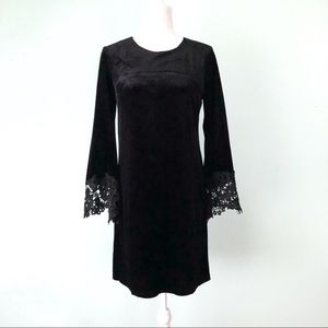 Neiman Marcus Velvet Bell Sleeve Dress Size 4